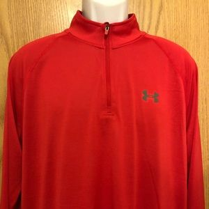 Under Armour zip up Pullover Mens L 2 t shirts NWT